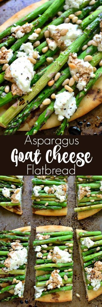 titled photo collage - Asparagus Goat Cheese Flatbread