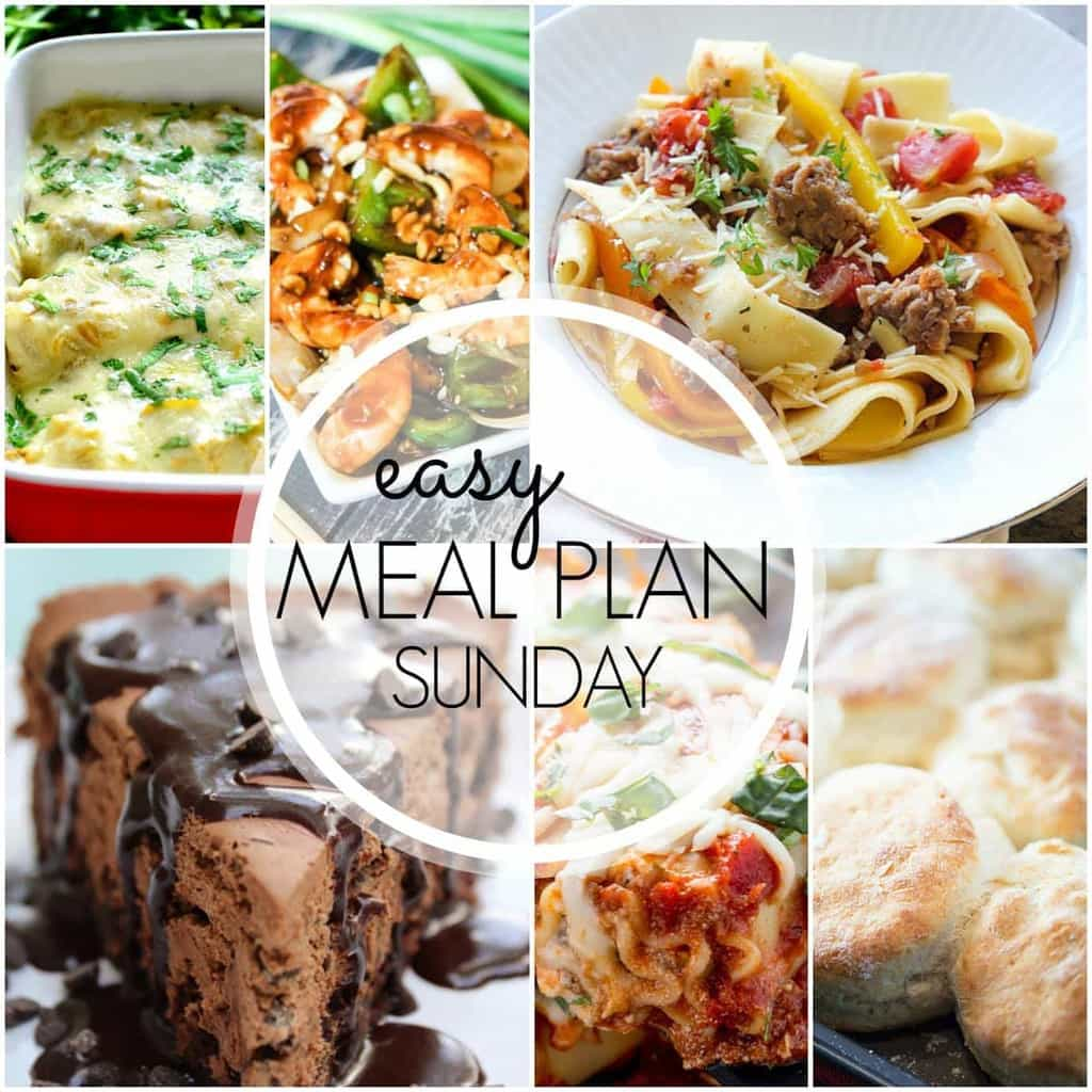 Everything you need for an EASY weekly meal plan...all in one place!