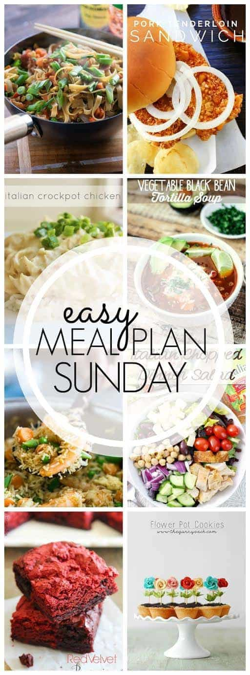 All the recipes you need for a week's worth of meals....all in one place! The best EASY meal plan around!