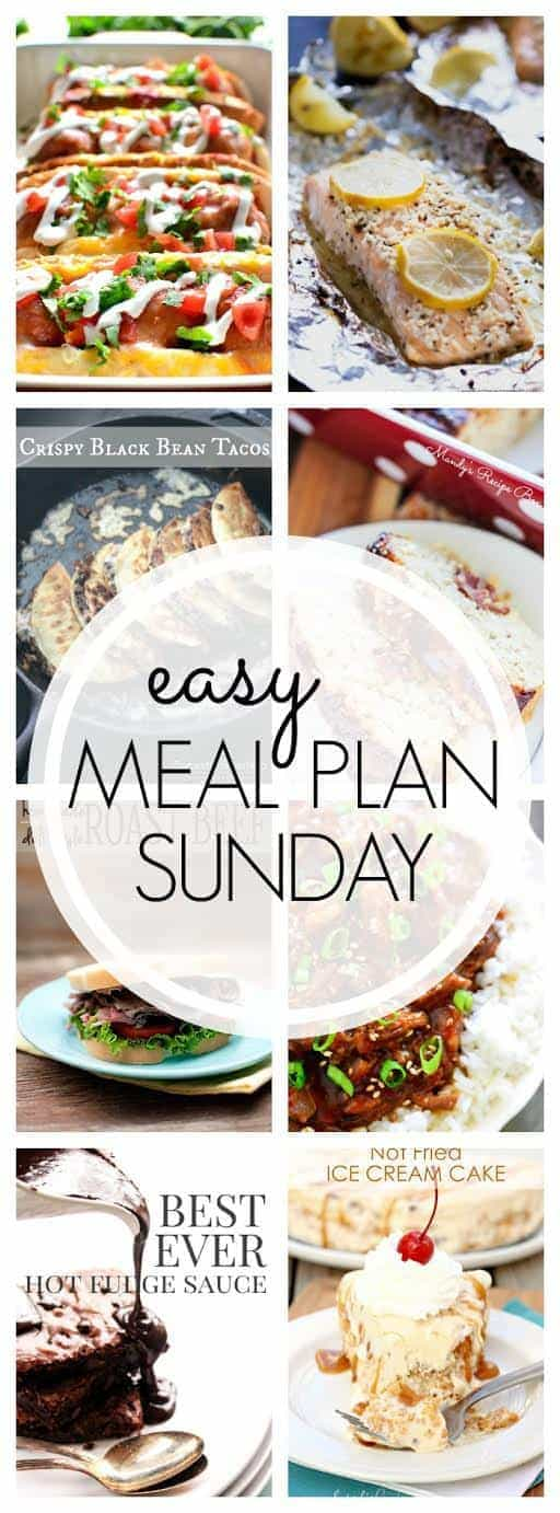 The BEST weekly meal plan! 6 dinners, 1 breakfast, 2 desserts - everything you need for a week's worth of meals, all in one place!