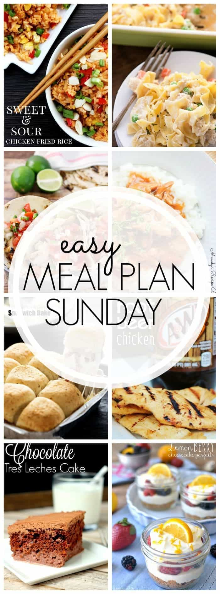 Everything you need for EASY meal planning! 6 dinners, 1 breakfast, and 2 desserts....guaranteed to make your week easy & delicious!