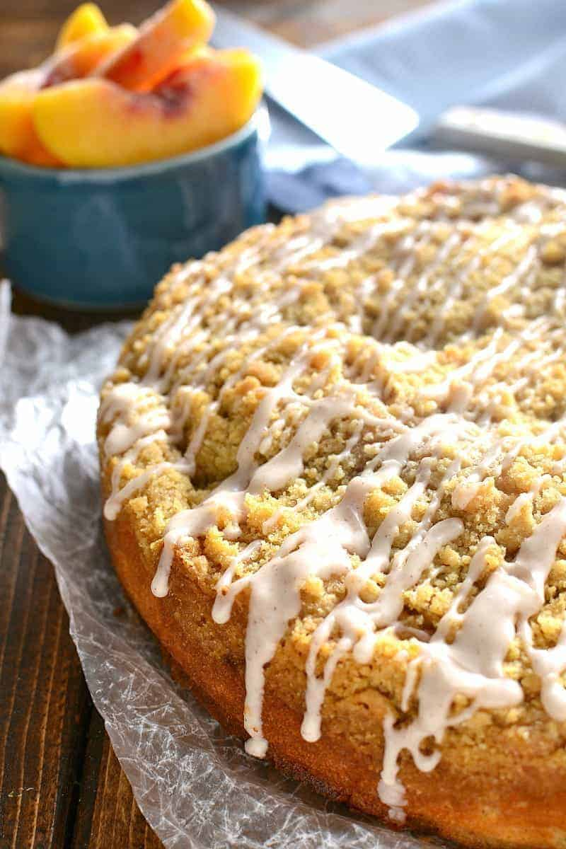 Peach Cobbler Coffee Cake Lemon Tree Dwelling
