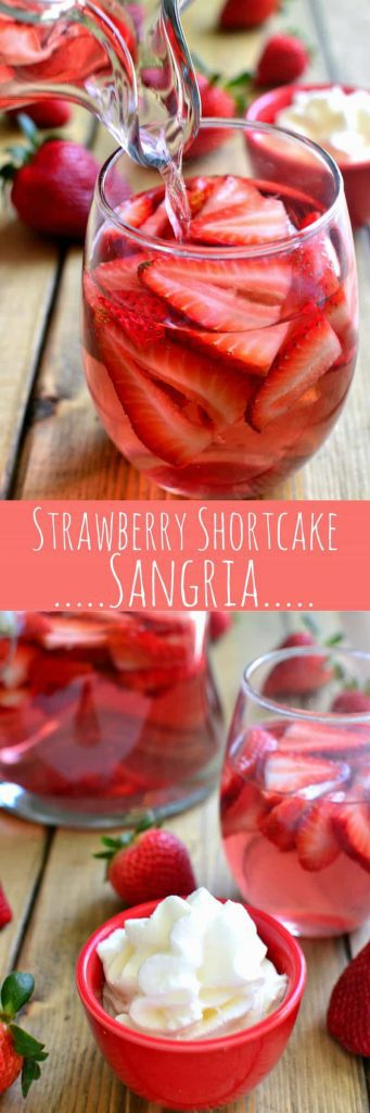 titled photo collage - Strawberry Shortcake Sangria