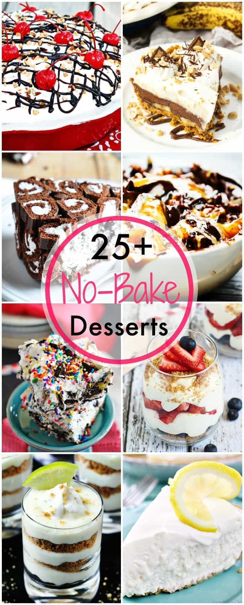 More than 25 No-Bake Desserts....just in time for summer!