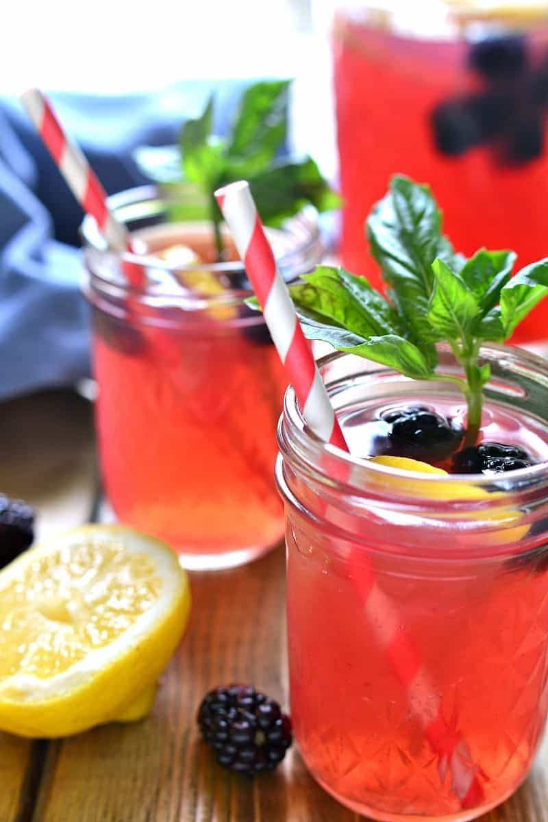 Blackberry Basil Vodka Lemonade combines sweet, tart lemonade with the delicious flavors of blackberry and basil in a refreshing cocktail that's perfect for summer!