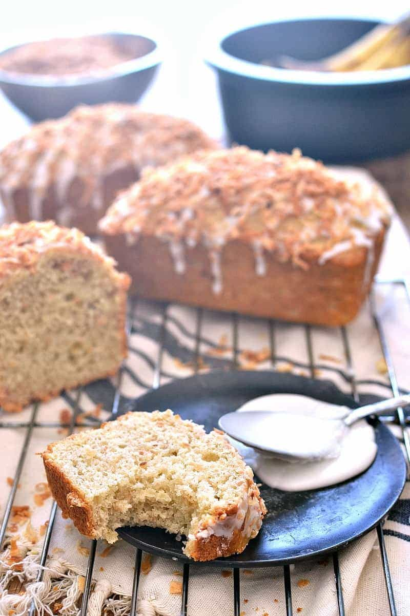 coconut rum banana bread recipe yummly coconut rum banana bread