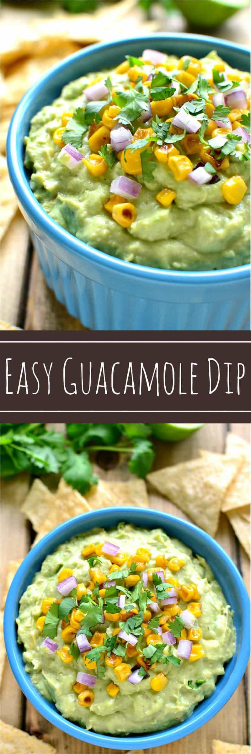 This Easy Guacamole Dip comes together two ingredients! Add your favorite garnishes to jazz it up, or serve it as is. Either way, it's guaranteed to become a quick & easy crowd favorite!
