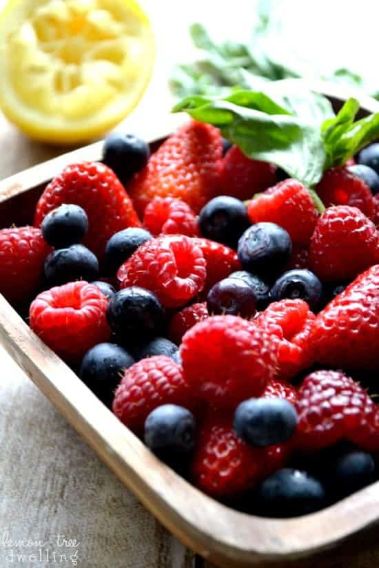 Lemon Basil Berry Salad 4