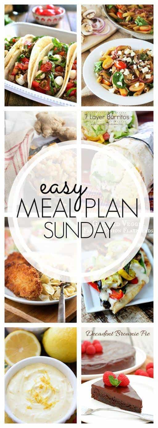 The best weekly meal plan around! 6 dinners, 1 breakfast, and 2 desserts - tried and tasty, and ready to make your week easier!