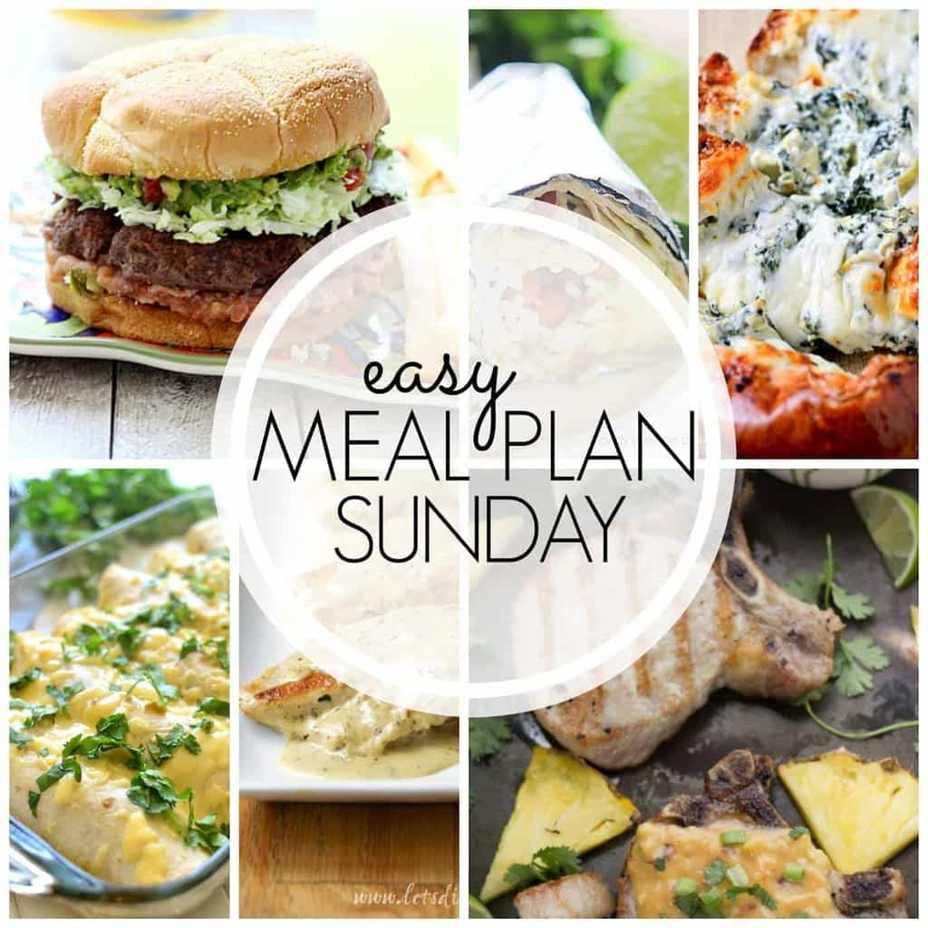A delicious weekly meal plan with EVERYTHING you need to make your week feel easier! 6 dinners, 2 desserts, and even a breakfast....because having a plan makes everything better!