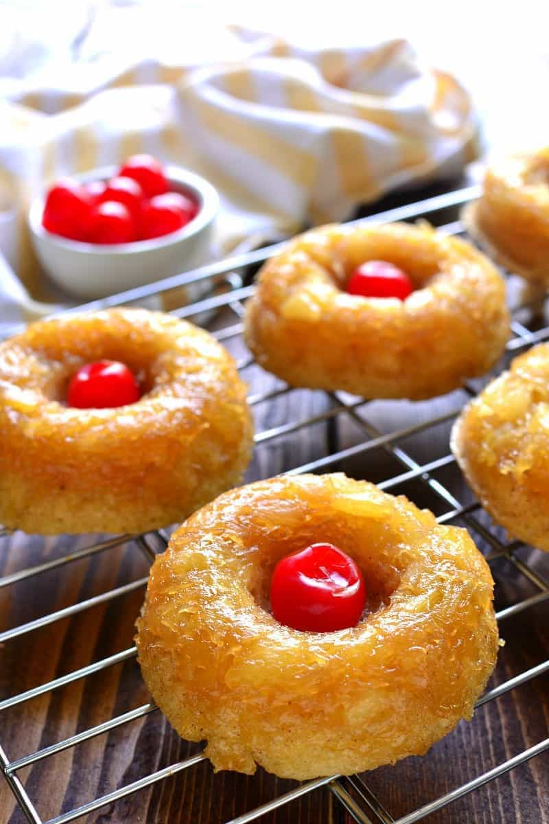 Pineapple Upside Down Donuts taste just like the cake, in donut form ...
