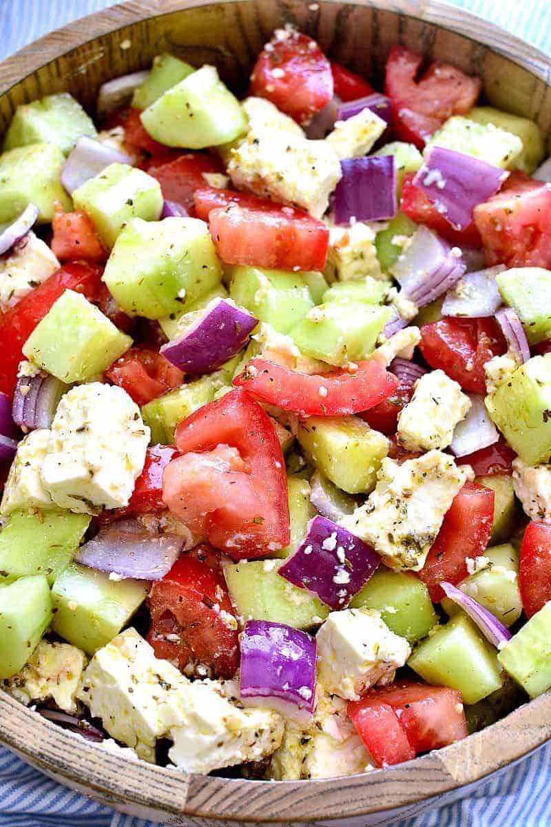 Tomato Feta Summer Salad Recipe — Dishmaps