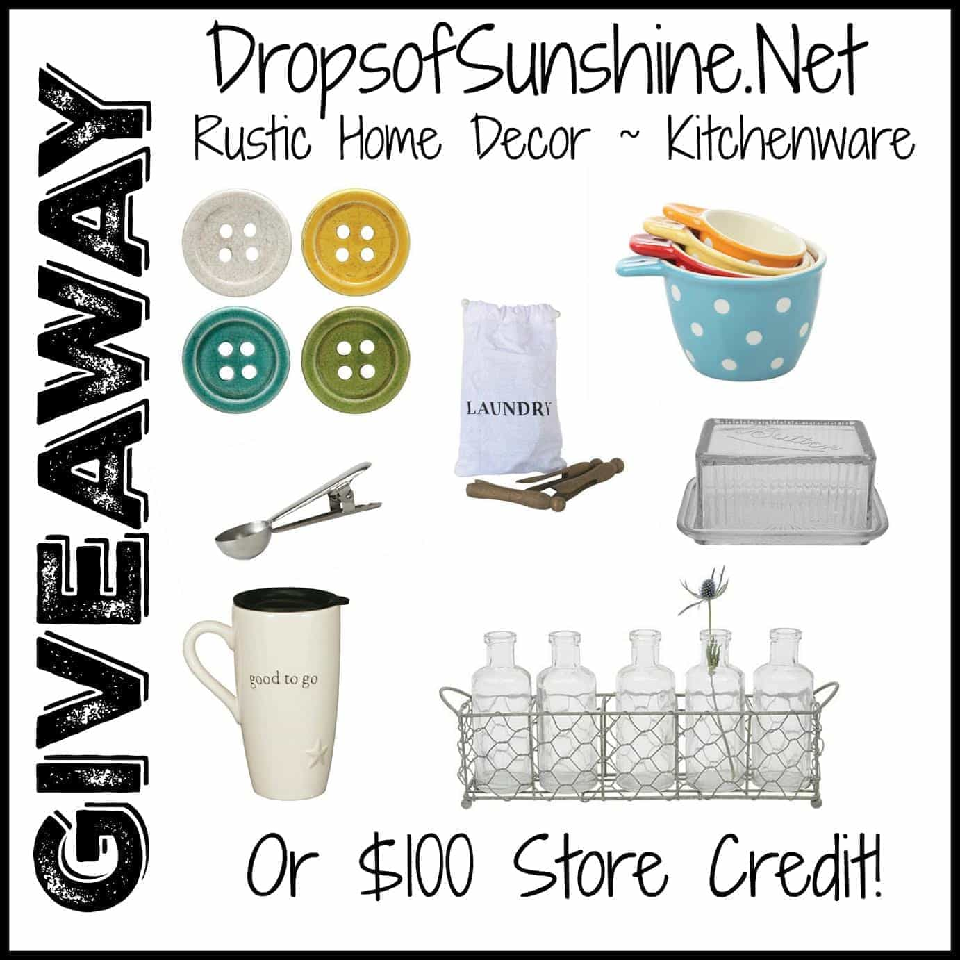 Drops of Sunshine Giveaway square