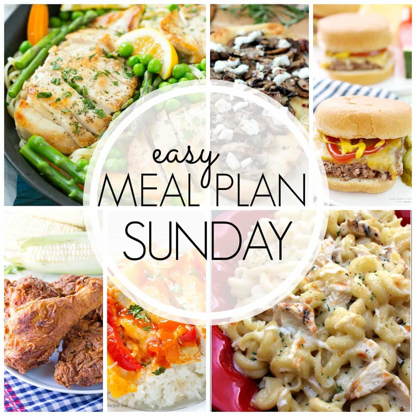 The BEST Easy Meal Plan! This meal plan has everything you need for a stress-free, delicious week (dessert included)!