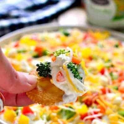 Veggie Pizza Dip