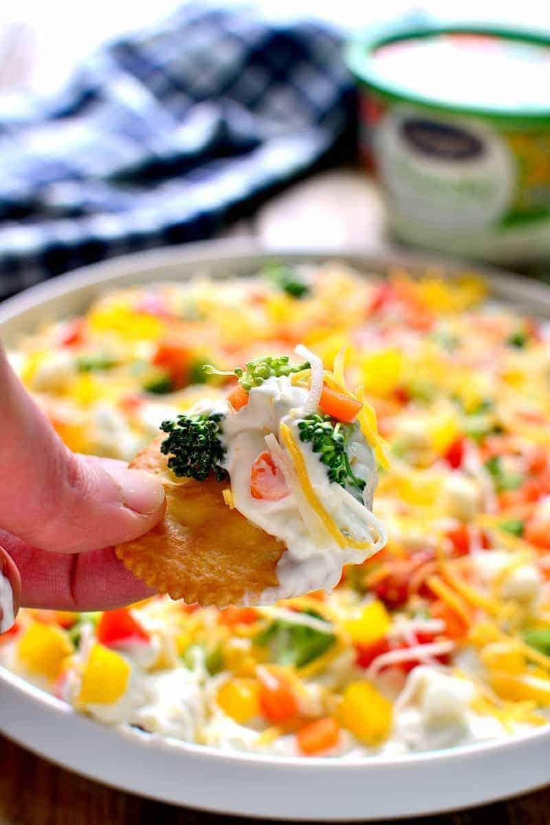 Veggie Pizza Dip 6b