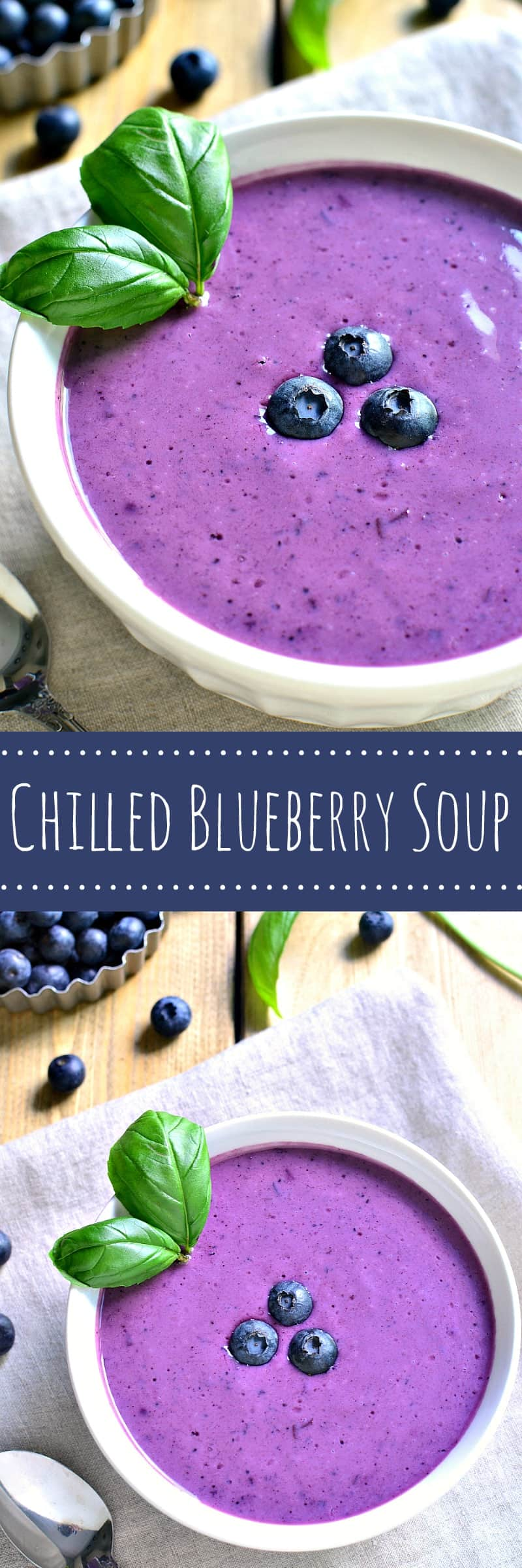 This Chilled Blueberry Soup makes the most of fresh summer blueberries and offers a surprising pop of flavor! Perfect for brunch with the ladies or a simple weekend lunch, this soup is as delicious as it is beautiful.....and sure to impress!