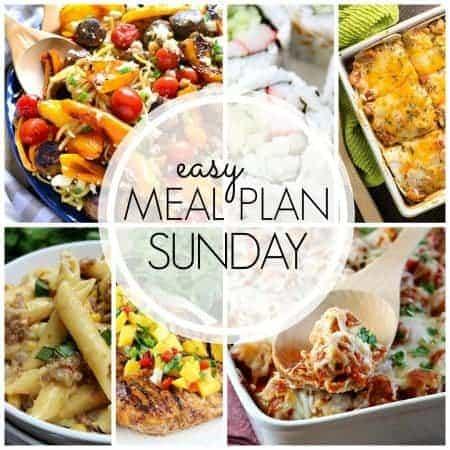 Easy Meal Plan Week 55