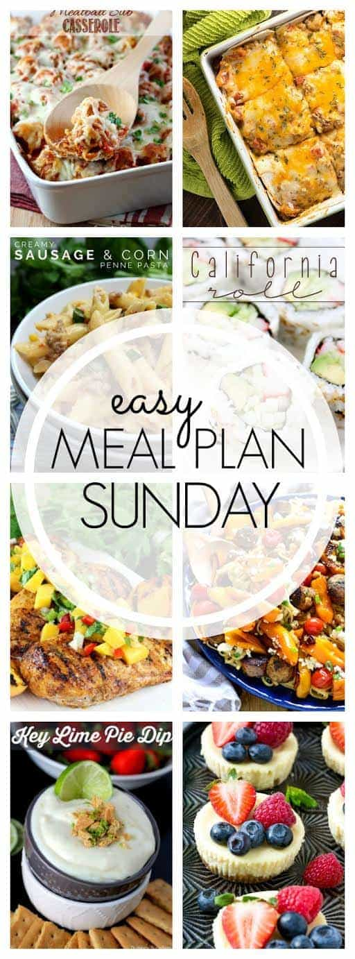The BEST Easy Meal Plan ever! 6 dinners, 1 breakfast, and 2 desserts....all delicious and guaranteed to make your life feel easier!