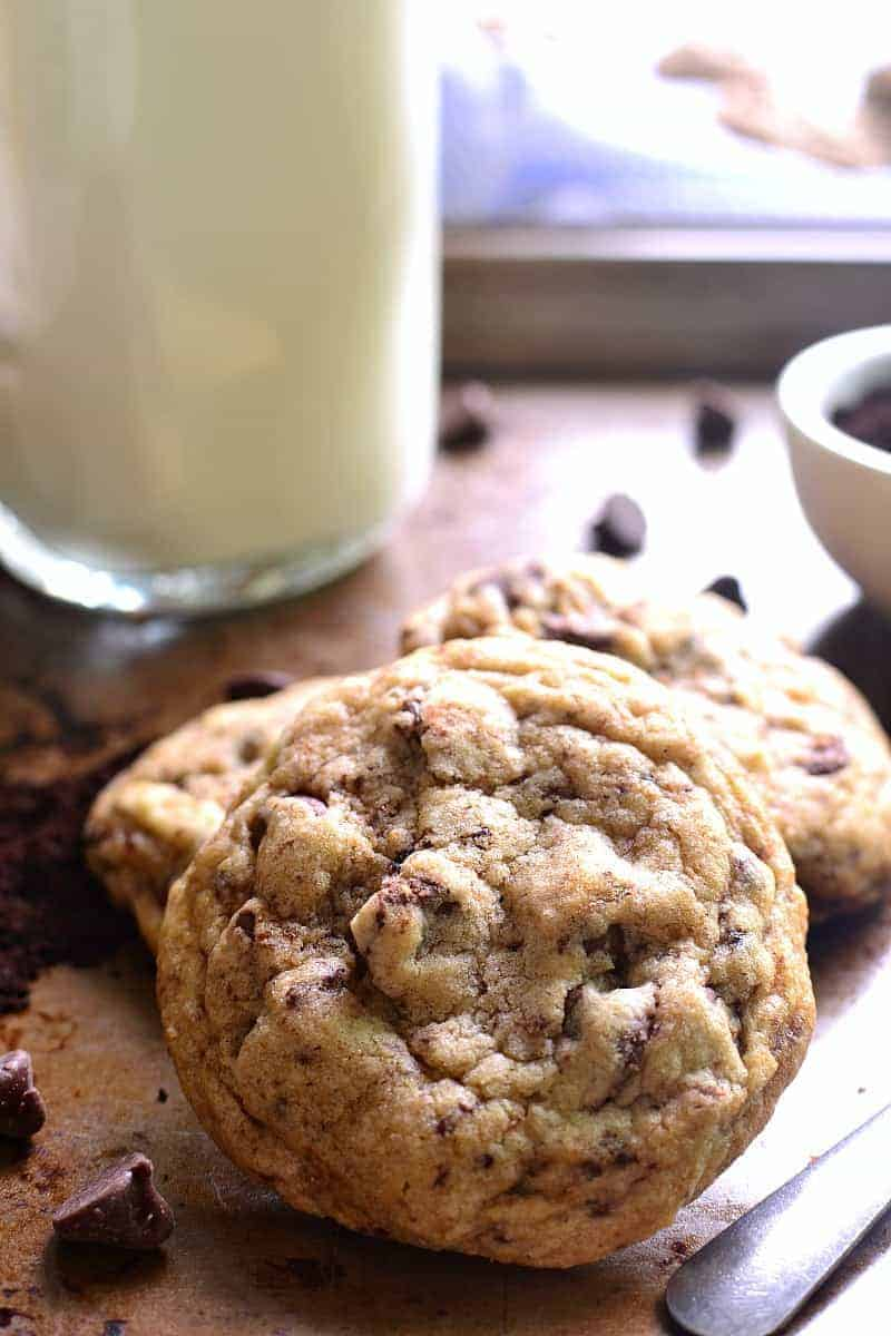 These Espresso Chocolate Chip Cookies are the perfect marriage of two ...
