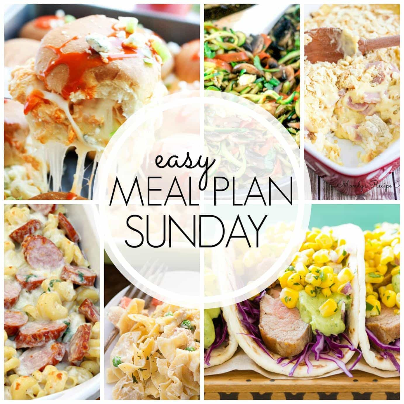 The BEST Easy Meal Plan for the week! 6 dinners, 1 breakfast, and 2 desserts, all in one place. Guaranteed to make your week feel easier (and so much more delicious)!