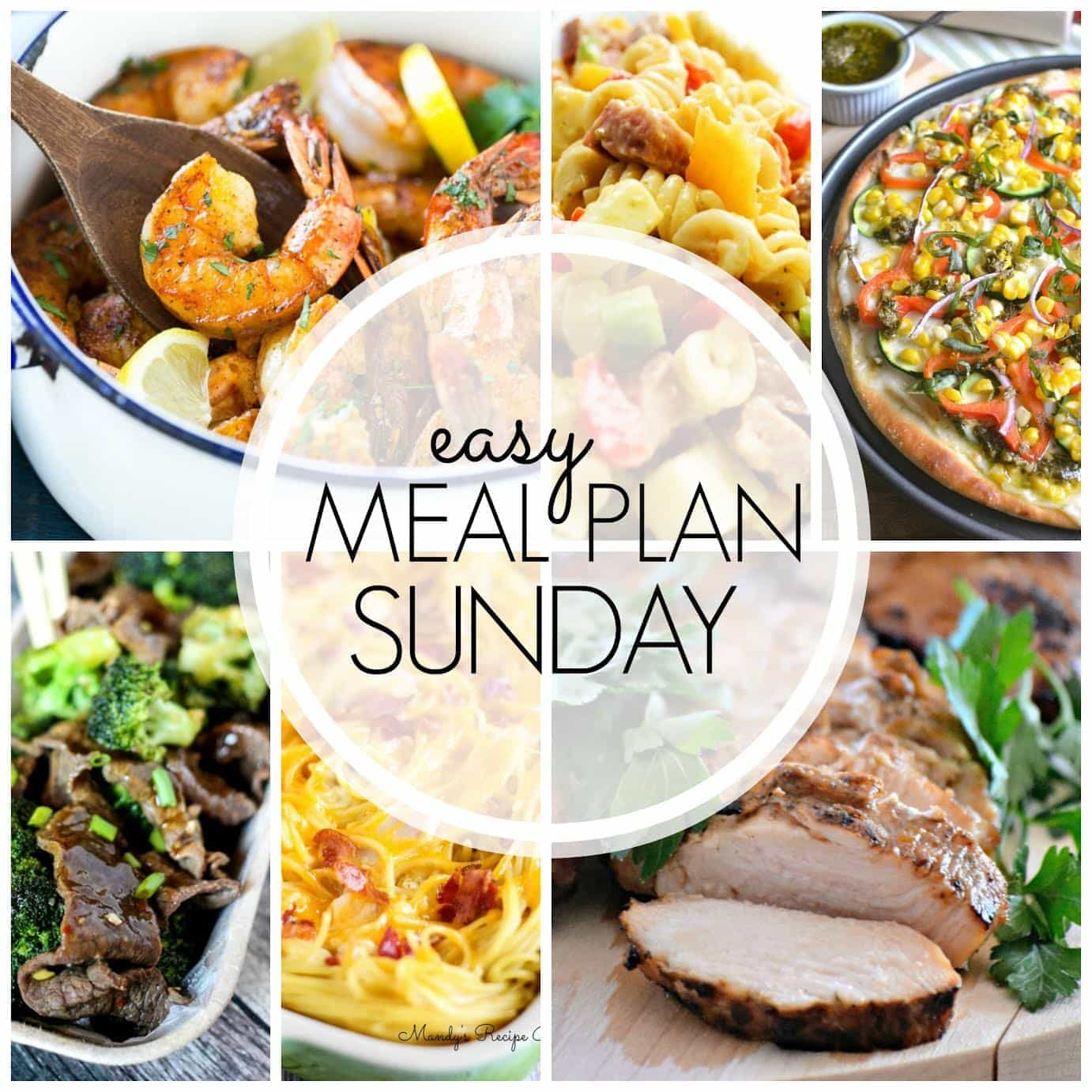 The BEST weekly meal plan, guaranteed to make your week feel easier and so much more delicious!