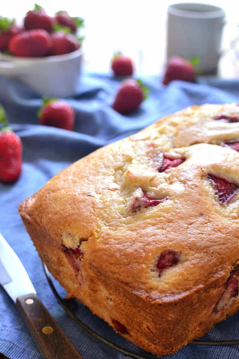 This Fresh Strawberry Bread is the perfect way to make use of fresh summer strawberries! It comes together quickly and is packed with delicious strawberry flavor. Sure to be a family favorite!
