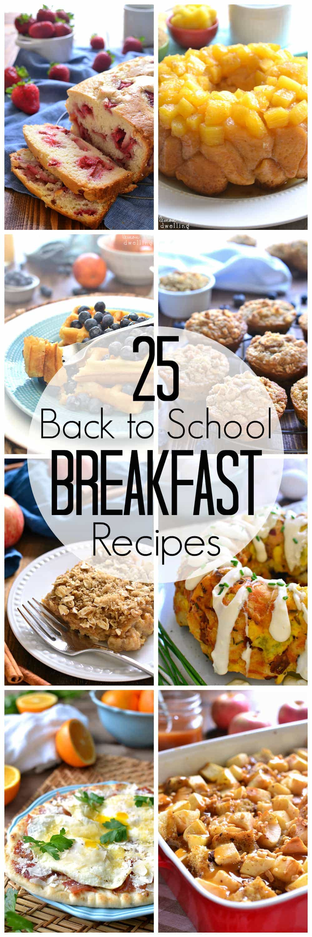 25 kid-tested Breakfast Recipes - just in time for back to school!