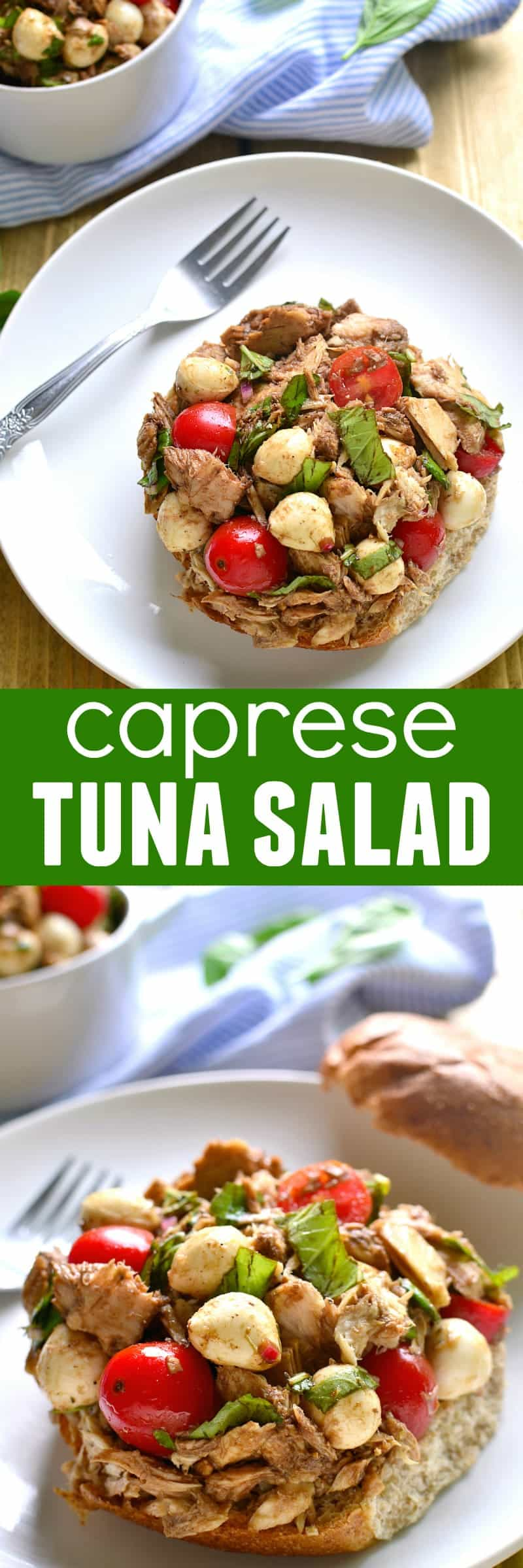 Move over, mayo...this Caprese Tuna Salad is just the fresh twist you ...