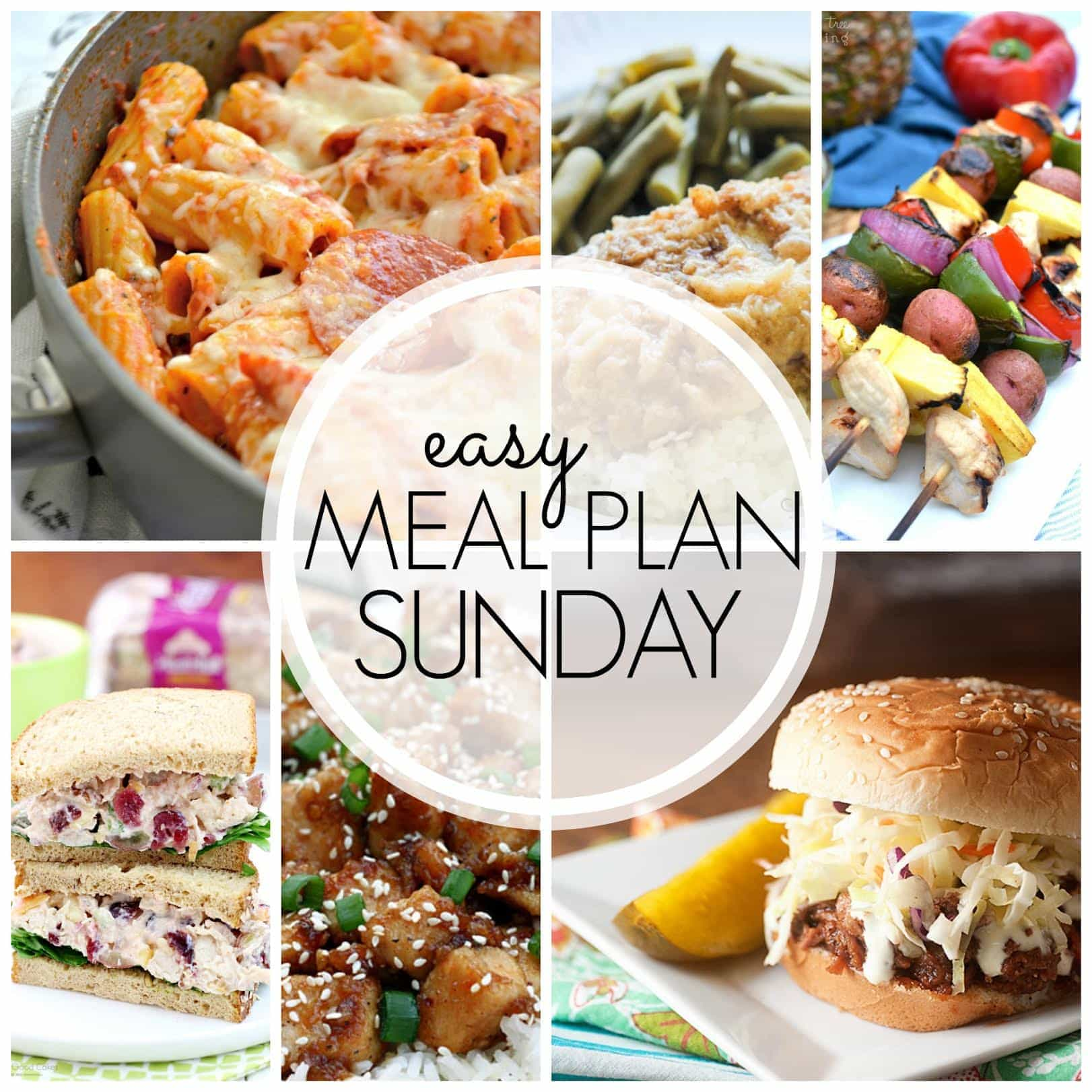 The BEST Easy Meal Plan! Everything you need for a week's worth of meals....all in one place!