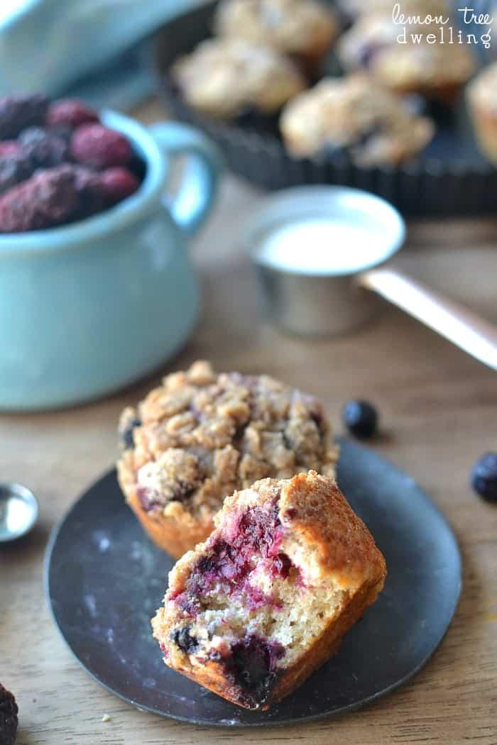 Triple Berry Quinoa Muffins 2