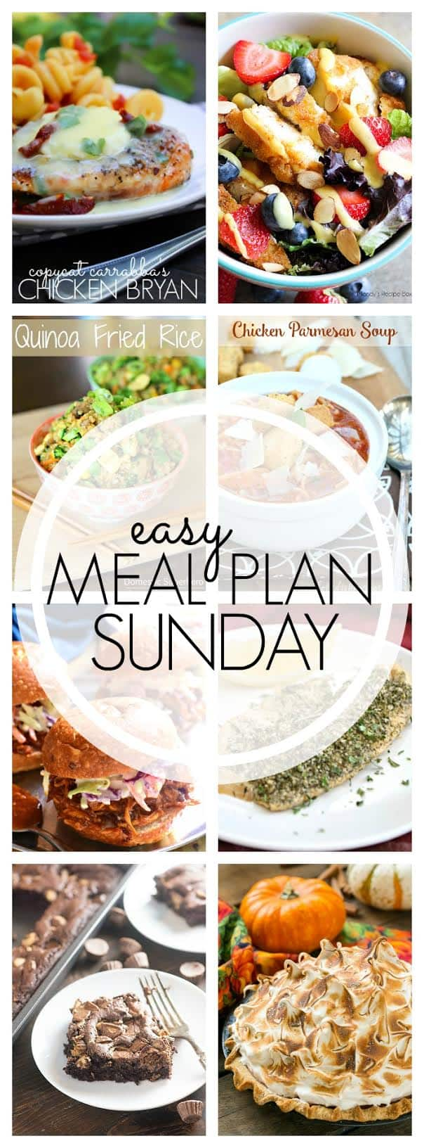 The BEST Easy Meal Plan...guaranteed to make your week easier! 6 dinners, 1 breakfast, and 2 desserts...all family tested and approved!