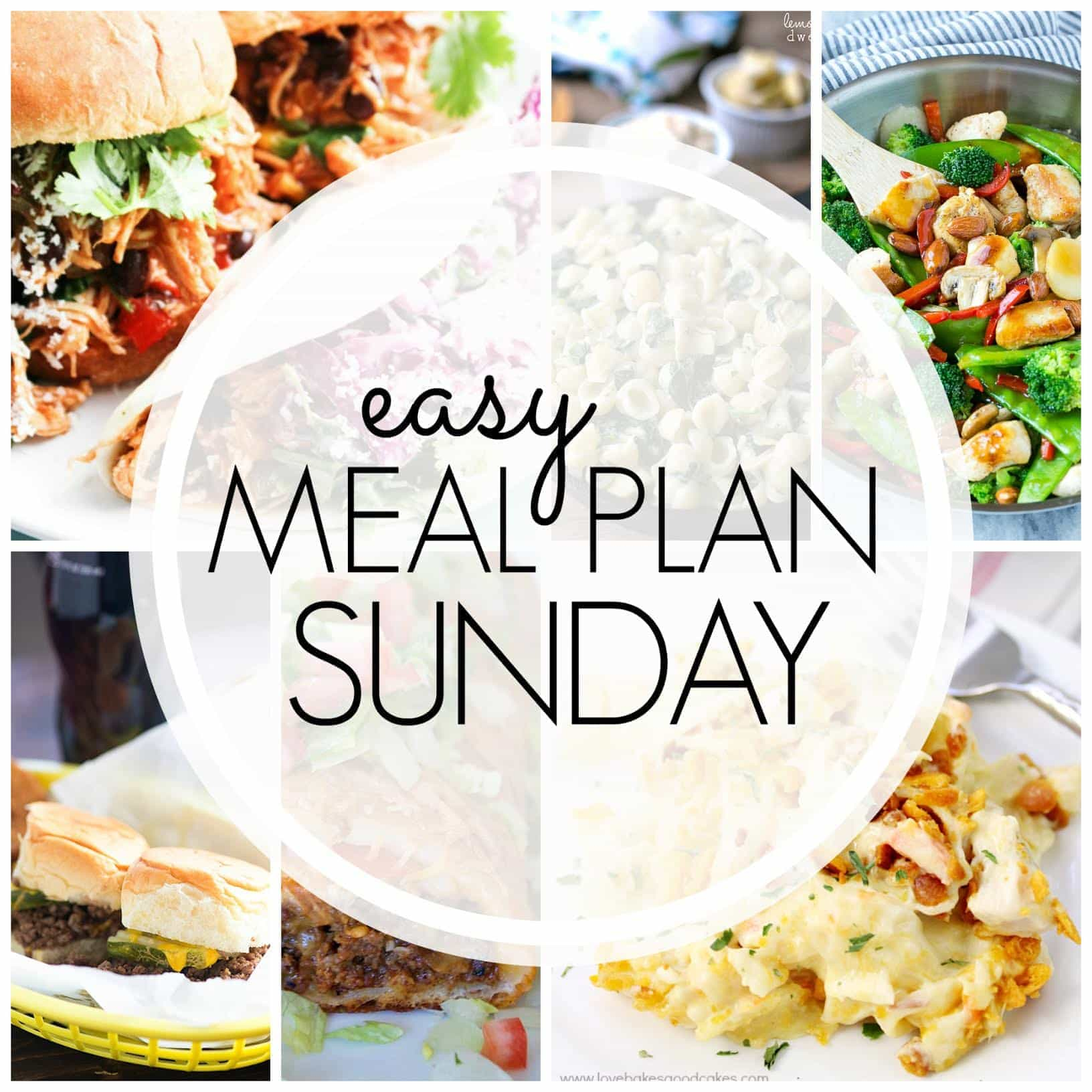 The BEST Meal Plan for your week! 6 dinners, 1 breakfast, and 2 desserts....all tried and true and guaranteed to make your week easier!