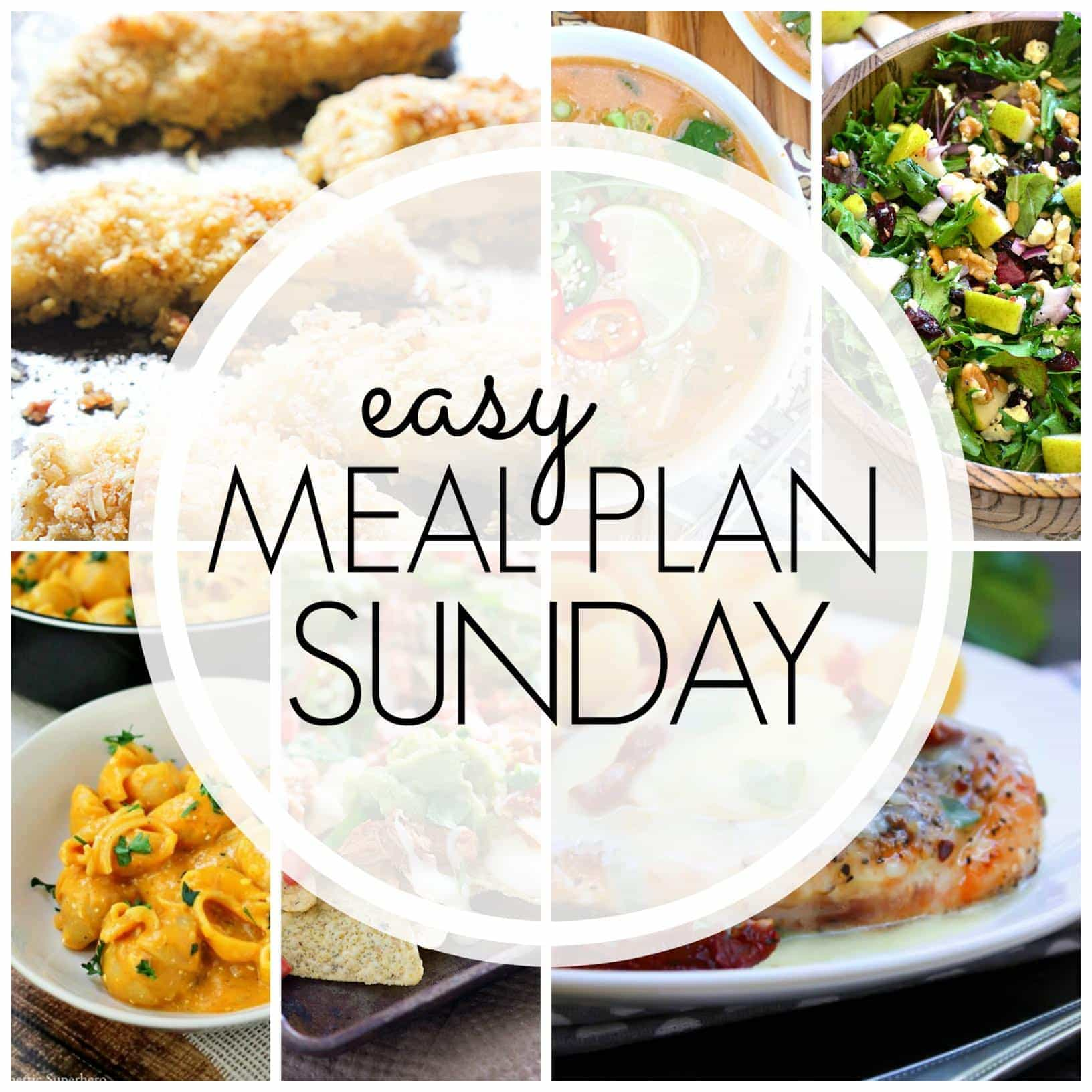 The BEST Weekly Meal Plan - 6 dinners, 1 breakfast, and 2 desserts - all in one place and ready to make your week easier!