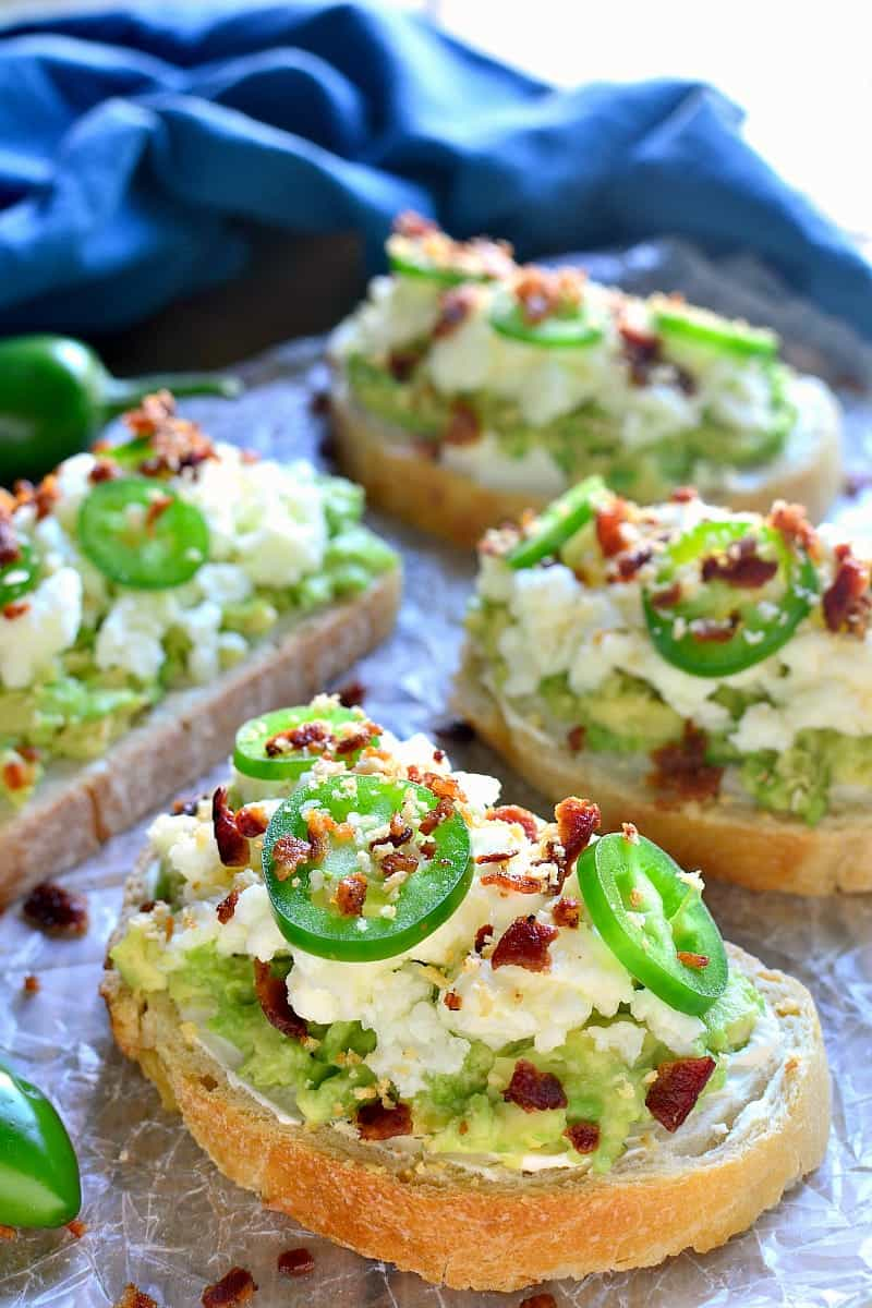 Jalapeño Popper Avocado Toast combines two classics in one delicious dish that's perfect for breakfast, lunch, or an anytime snack!