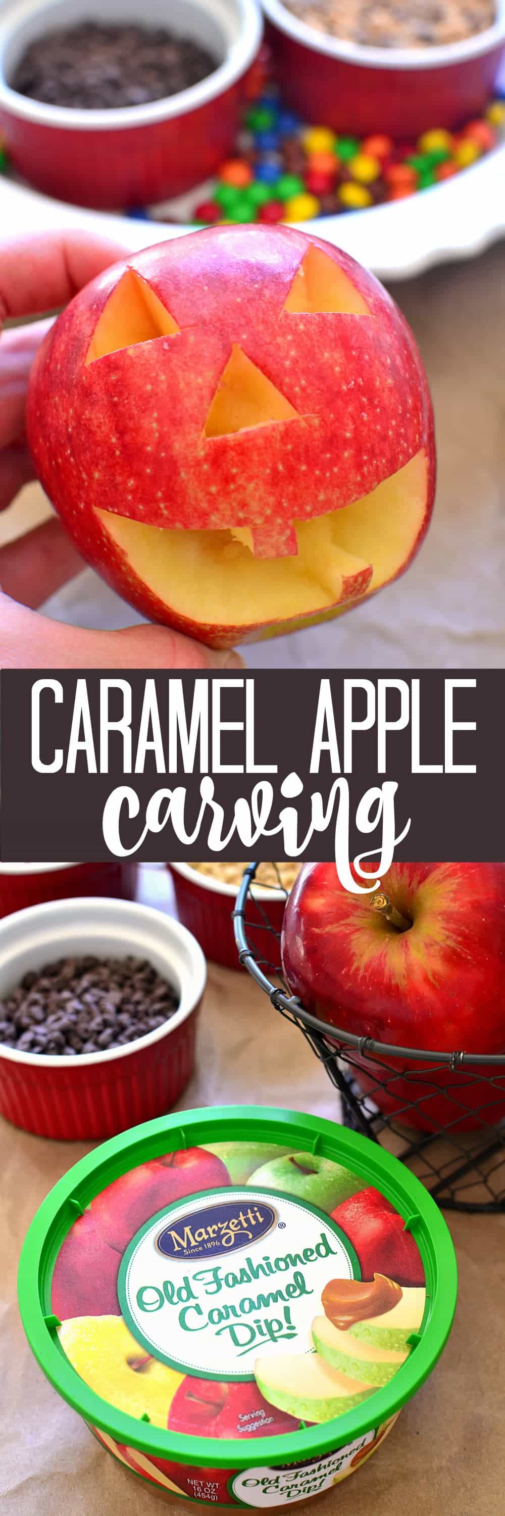 Caramel Apple Carving - a fun new fall tradition that's easy for kids and SO delicious!