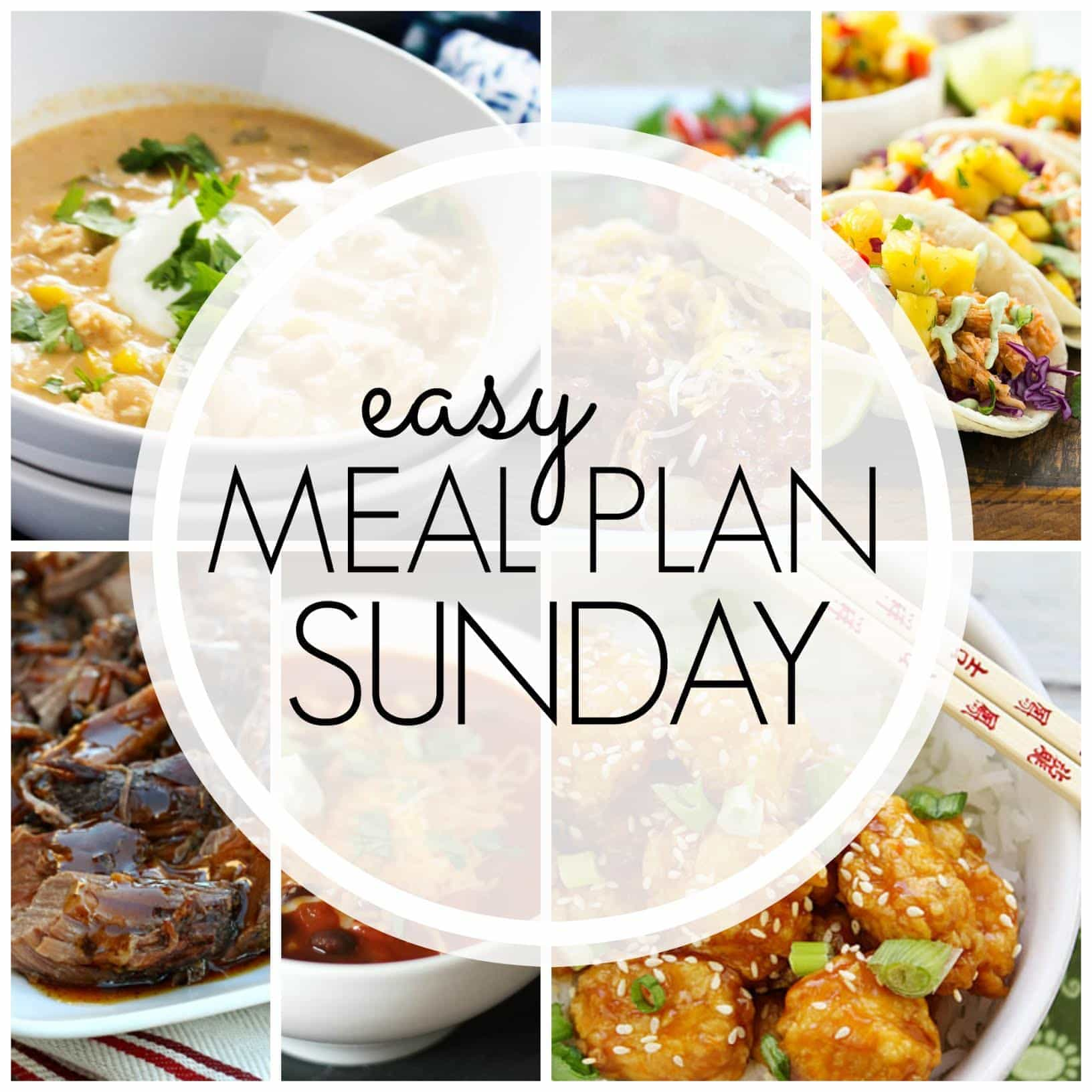 The BEST Easy Meal Plan! 6 dinners, 2 breakfasts, and 1 dessert....guaranteed to make your life easier!