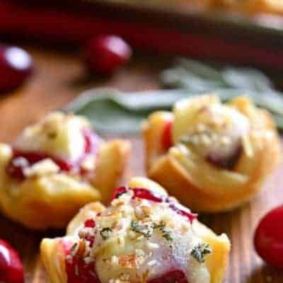 Chicken Cranberry Brie Tartlets are a quick appetizer that combine all the best flavors of the season in one delicious little bite. Perfect for all your holiday parties. These tartlets are sure to become a new favorite!