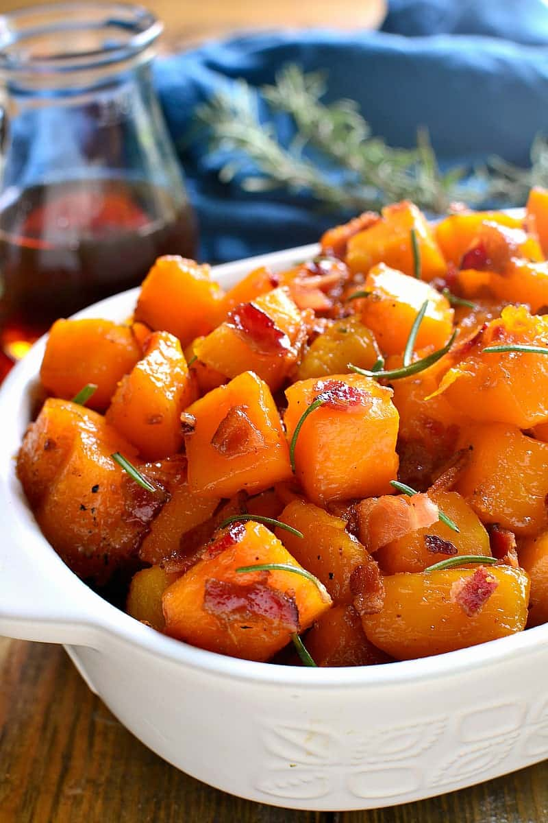 Maple Bacon Roasted Butternut Squash | Lemon Tree Dwelling