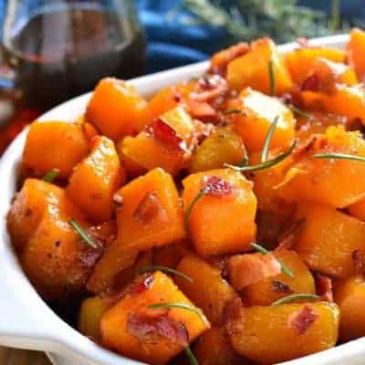 Maple Bacon Roasted Butternut Squash
