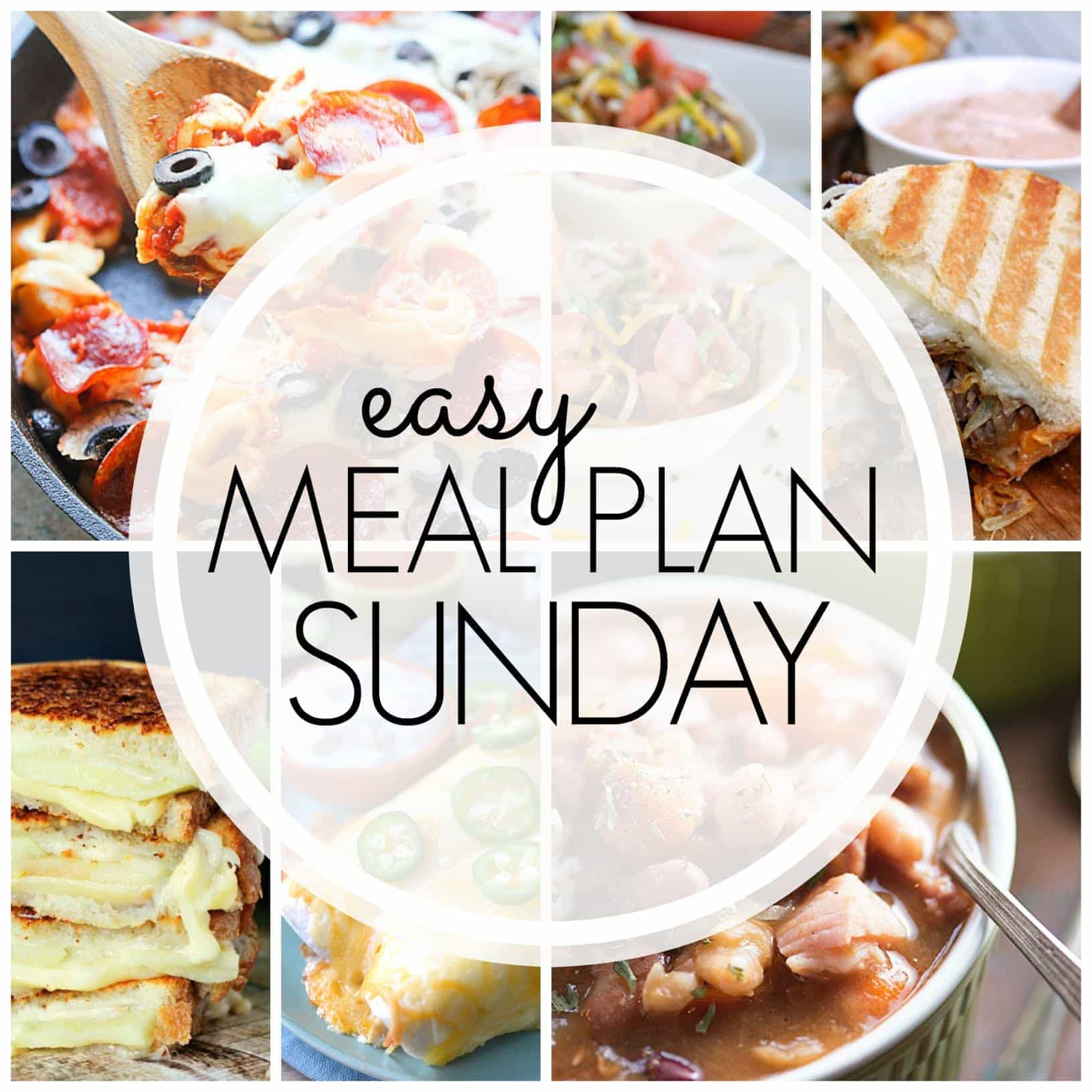 The BEST Easy Meal Plan! 6 dinners, 1 breakfast, and 2 desserts....tried and tasty and guaranteed to make your week easier!
