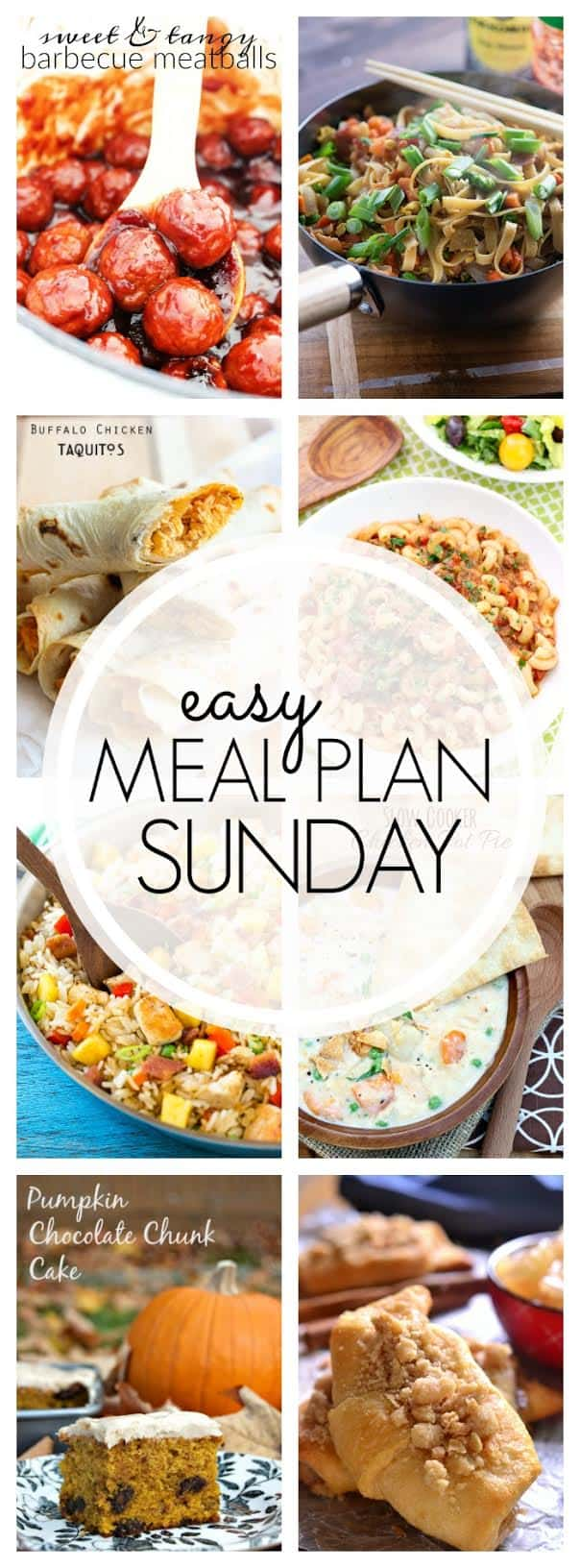 The BEST Easy Meal Plan! 6 dinners, 1 breakfast, and 2 desserts...all delicious and guaranteed to make your week delicious!