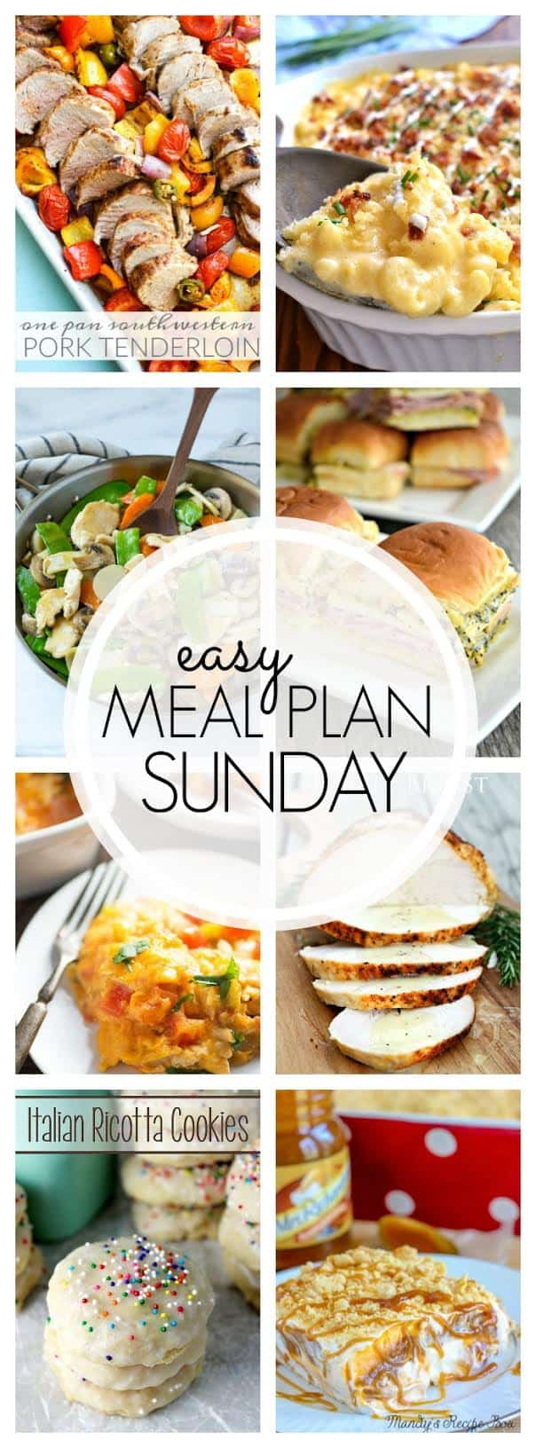 The BEST Easy Meal Plan! Everything you need to make your week easy and delicious!