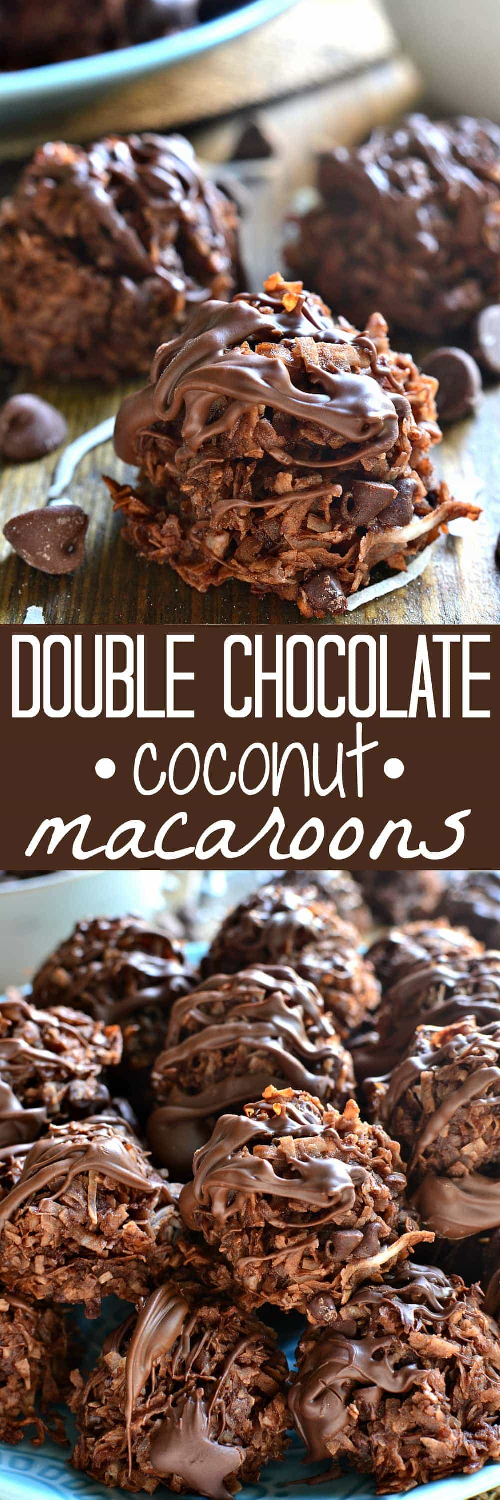 Double Chocolate Coconut Macaroons are loaded with rich chocolatey flavor and sinfully delicious coconut - the perfect twist on a classic! Don't miss these!