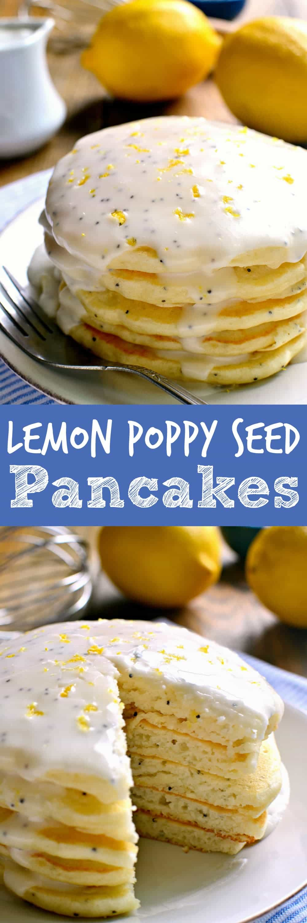 These Lemon Poppy Seed Pancakes are light, fluffy, and bursting with ...