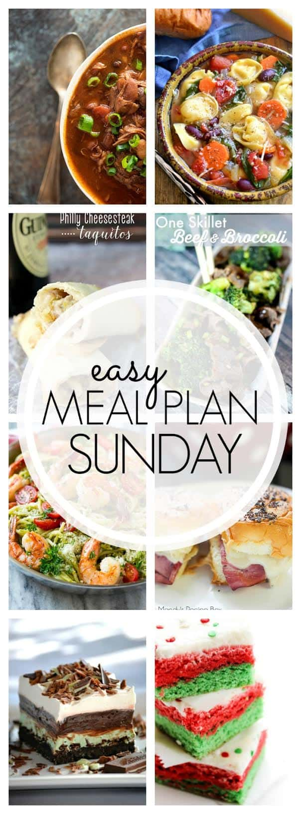 The BEST Weekly Meal Plan! 6 dinners, 1 breakfast, and 2 desserts.....all perfect for cozying up in this cold winter weather!