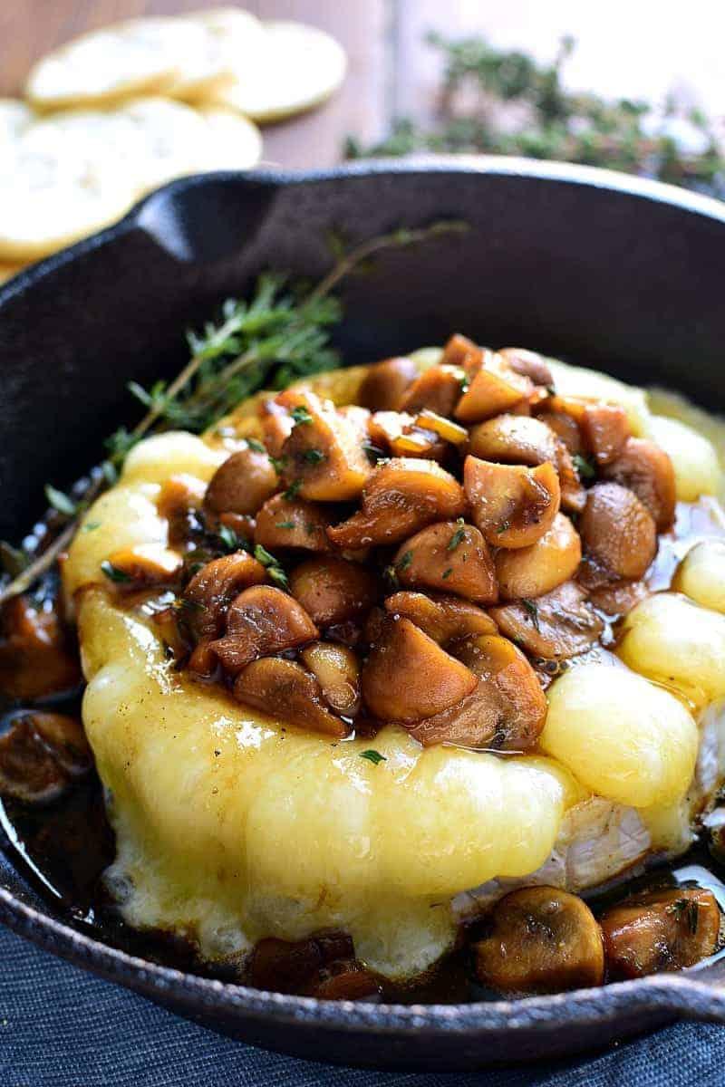 Mushroom Marsala Baked Brie combines rich marsala-glazed mushrooms ...