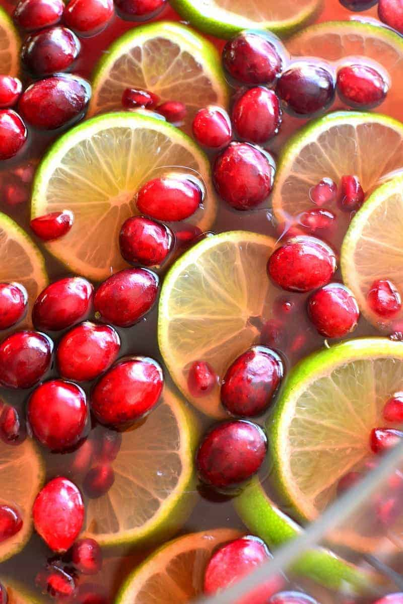 This Pomegranate Party Punch combines the BEST flavors of the season in a festive drink that's guaranteed to have your guests coming back for more!