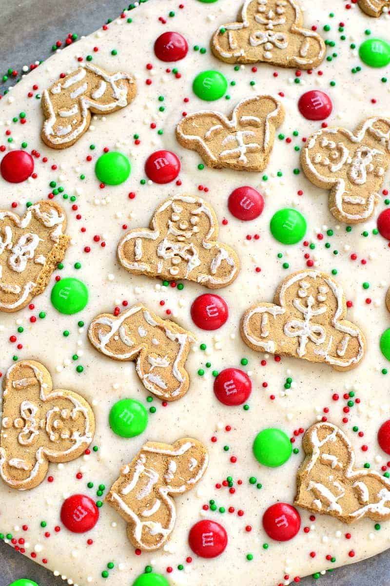This White Chocolate Gingerbread Bark is easy to make, fun to eat, and perfect for holiday gifting!