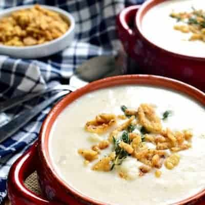 This Cheesy Cauliflower Soup is creamy, comforting, and packed with delicious flavor! Perfect for busy weeknights or lazy weekends at home.
